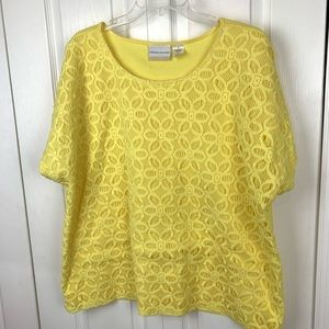 Alfred Dunner Lace Front Blouse